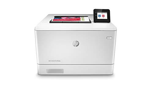 HP Color LaserJet Pro M454dw Stampante Laser a Colori, Wireless, Capacità Vassoi Carta 300, Velocità 27 ppm, Stampa Fronte/Retro Automatica, Display Touch Screen, USB, Bianco