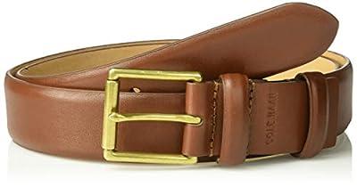 Cole Haan Men's Leather Belt, British Tan/English Brass, 38