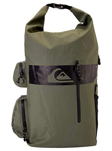 Quiksilver Evening Sesh 35L 35 Liter Fassungsvermögen Großer Rucksack Rucksack Tasche - Thymian - Nass- / Dry - Rollverschluss