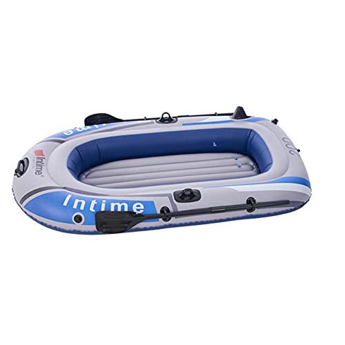 Molare Barca Hinchable, Barco Inflable, Kayak Hinchable para 2/3 Personas, Balsa Inflable para Adultos Bote Inflable con Remos, Cuerda, Paleta, Bomba De Aire Y Patches De Reparación para Carefully