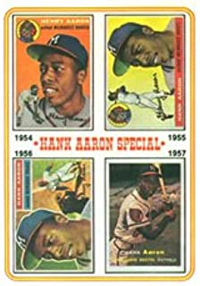 1974 Topps Regular (Baseball) card#2 Hank Aaron 1954-57 of the Milwaukee Braves Grade Very Good