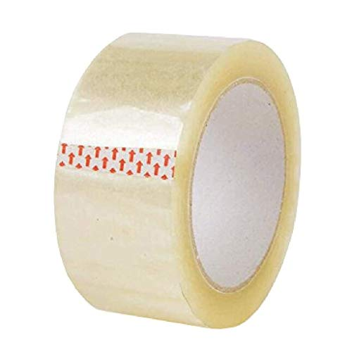60 x Rolls Klar Büro Packband 6 cm breit, 100 Meter lang, Low Noise hohe Haftung, Sichern und Sticky-Siegel for Ihre Boxen