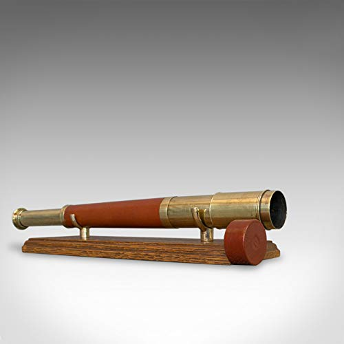 Telescopio Antiguo, Inglés, Single Draw, Terrestrial, Astronómico, Circa 1790