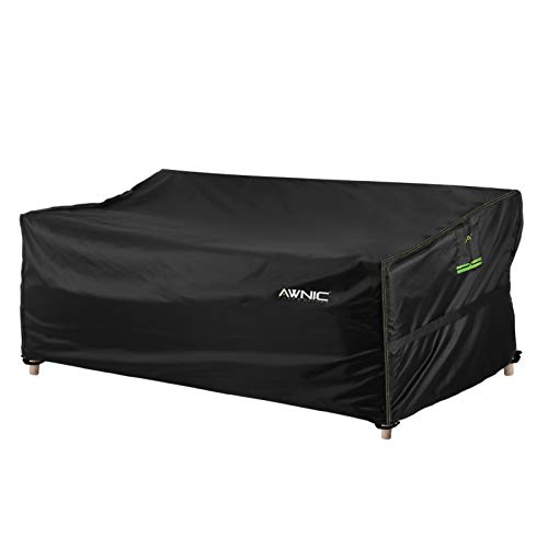 AWNIC Garden Sofa Cover 2 Seater Garden Furniture Covers Waterproof Outdoor Sofa Covers TÜV Rheinland Certificated UV-resistent 160x85x61/71cm