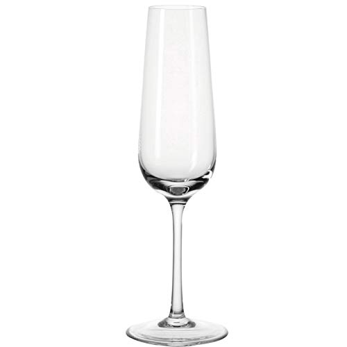 Leonardo Tivoli Sekt-Gläser, Sekt-Kelch mit gezogenem Stiel, spülmaschinenfeste Prosecco-Gläser, 6-er Set, 210 ml, 020962