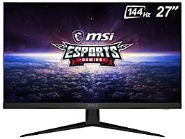 """MSI Optix G271 - Monitor Gaming de 27"""" FullHD 144Hz (1920 x 1080p, Panel IPS, ratio 16:9, AMD FreeSync, brillo 250nits,..."""