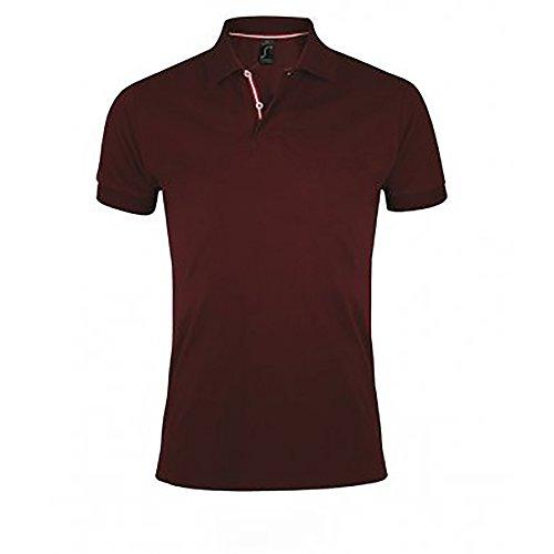 SOLS Herren Patriot Pique Kurzarm Polo Shirt (3XL) (Burgunder)