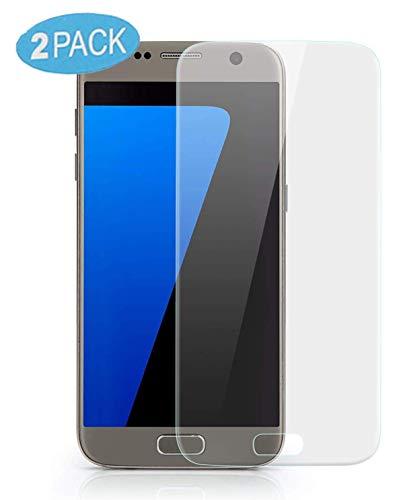 VAPIAO 2er Pack [2 Stück] Panzerfolie passend für Samsung Galaxy S7 Displayschutz Folie gewölbte Displays Full Cover Curved 3D Nano Screen Protector in Transparent