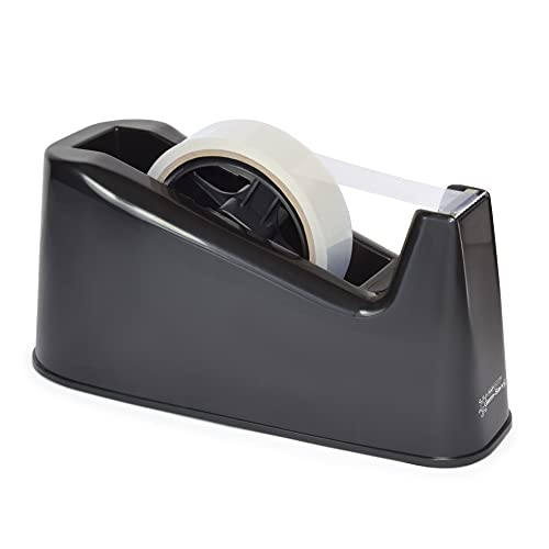 Rapesco Accesorios - Dispensador de cinta adhesiva para rollos de tamaño grande, negro