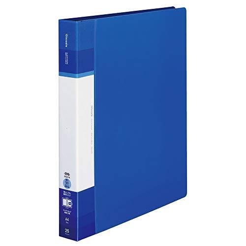 コクヨ ファイル クリヤーブック グラッセル 替紙式 A4 ワイド ブルー ラ-GLB730B