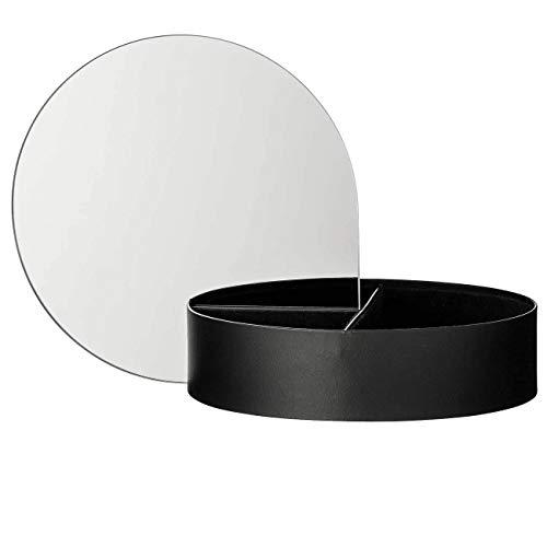 AYTM - Gutta Schmuckbox mit Spiegel Large, schwarz