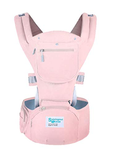 YQ&TL Baby Carrier 3 in 1 Multi-function Waist Stool Strap Bag Travel Artifact Four Seasons Breathable Adjustable for Newborn and Toddler from 0 to 3 years (3.5 to 20 kg), Pink