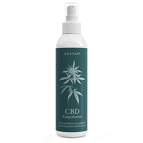 Nektar® Naturkosmetik CBD Bodylotion für trockene, sensible und empfindliche Haut, Pflegelotion hat hautschützende, reinigende und beruhigende Wirkung