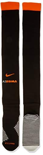 NIKE Roma U Stad OTC Sock 3R Socks, Unisex Adulto, Black/Sail/Safety Orange, L