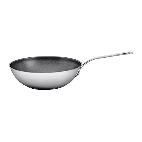 Jamie Oliver Mid Tier Frying Wok 28 cm/Suitable for All Hob Types/Made of Stainless Steel with Ultimate ILAG Non-Stick Coating