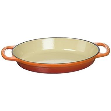 Le Creuset Enamel Cast Iron Signature Oval Baker, 1 quart, Flame