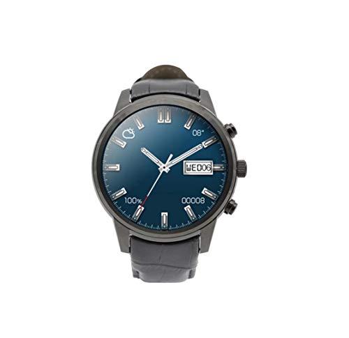 HoEOQeT Mode Casual Montre Sport marchepied Montre Intelligente Montre Bracelet (Color : Black Gray)