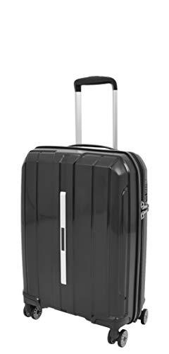 Cabin Size Hand Luggage Hard Shell 4 Wheel Suitcases Expandable TSA Lock Travel Bag A803 Black