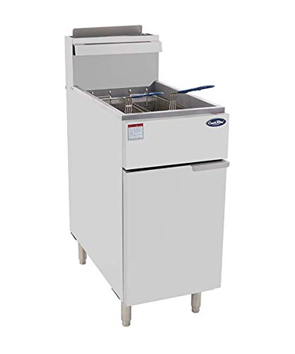 CookRite ATFS-40 Commercial Deep Fryer with Baskets 3 Tube Stainless Steel...