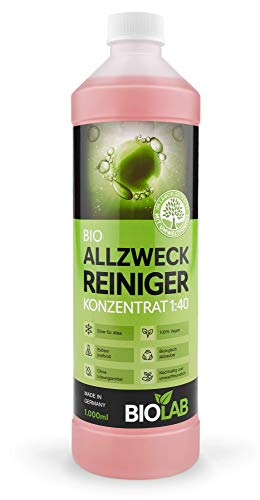 BIOLAB Bio Allzweckreiniger Konzentrat, Hygienereiniger, Universalreiniger, Multicleaner Kraftreiniger Konzentrat, Allesreiniger (1000 ml)