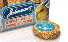 Johnsons Honey Rings for Budgies, Parakeets etc. x 4 (Single Units)