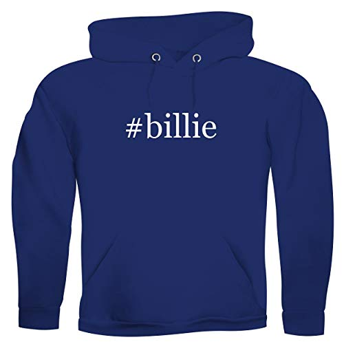 #billie - Men's Hashtag Ultra Soft Hoodie Sweatshirt, Blue, Large