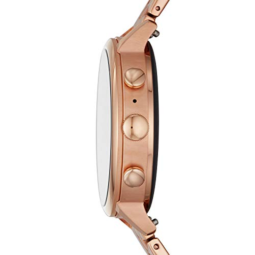 Fossil Women's Gen 4 Venture HR Heart Rate Stainless Steel Touchscreen Smartwatch, Color: Rose Gold 5-Link (Model: BQD3001)