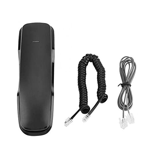 LYQQQQ Fijado teléfono Inteligente teléfono Inteligente Mini teléfono Teléfono de Pared Teléfono Colgante 2 en 1 pulsador Teléfono para el hogar (Color : Black)