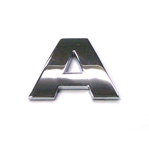 3D Chrome Self Adhesive Letters Digits Numbers Signs Emblem Badge Decal Stickers - Letter A