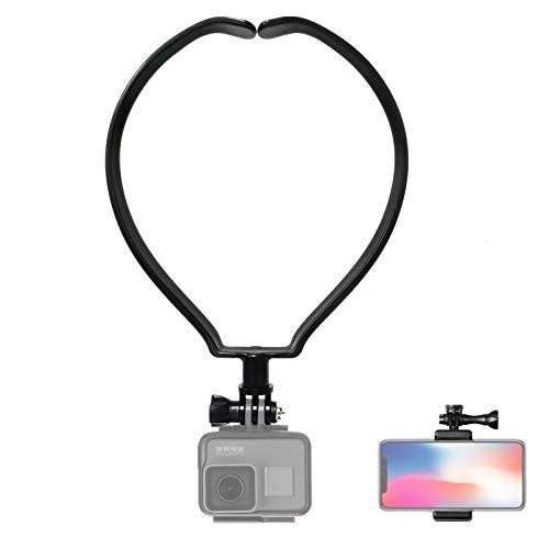 VARIPOWDER Phone Selfie Neck Holder Mount for GoPro Hero 9 8 7 6 5 4 3+ 3 Action Camera,Cell Phone, Video Shoot Accessories