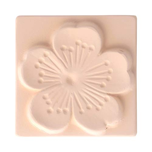 CRECEN Air Healing Ceramic- Ewha, Korean- Flower Series, Beautiful Air Purifying Natural Ceramic Tile, Wall Decoration, Solid Deodorizer removes Bad Odors & Vocs, Chemical Free, Fragrance Free