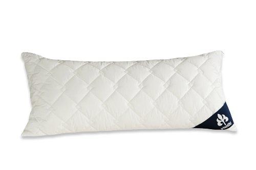 Badenia 03840890108 Bettcomfort Kissen Irisette Atmosphere, 40 x 80 cm, weiß