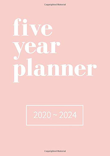 Five Year Planner 2020-2024: Small, B6 Size At A Glance Diary (UK Holidays)...