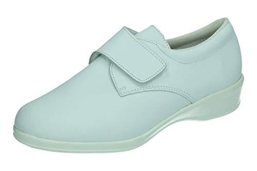 MADE IN SPAIN 7070 Zueco Cerrado Velcro Mujer Calzado Trabajo Blanco 38