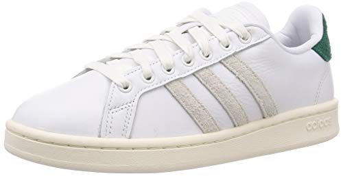 adidas Grand Court, Zapatillas de Tenis Hombre, FTWR White/Orbit Grey/Collegiate Green, 42 2/3 EU