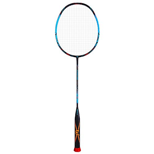 Rebily Offensive Badmintonschläger Single Shot Full Carbon Durable Adult Carbon-Faser-Trainingsschläger (Color : Blau)