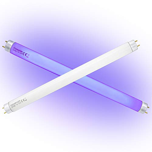 2-Pack T8 F10 UV BL 10W Replacement Light Bulb CFL Fluorescent Straight Tube 13 Inch