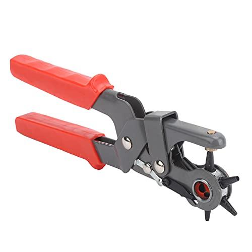 Perforadora para cuero, hace que la perforación sea más ahorradora de mano de obra Perforadora multifunción 6 orificios redondos para placas de metal delgadas para vinilo para cuero para