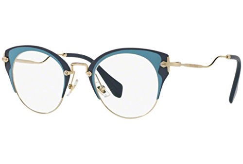 Miu Miu Damen 0MU 52PV Sonnenbrille, Blue, 48