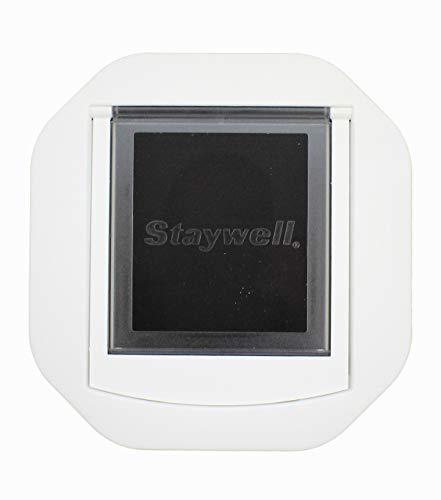 Ernst Koch 710 Katzentür für Glaseinbau, Code 710, achteckig, transparente Klappe, Einheitsgröße, weiß