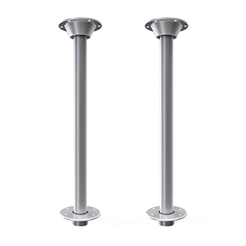 """Manufacturers' Select ITC SurFit Table Leg System for RV or Boat - Recessed Mount Two Pack (Silver Powder Coated Finish, 27"""" 2pk) (X002URPV15)"""