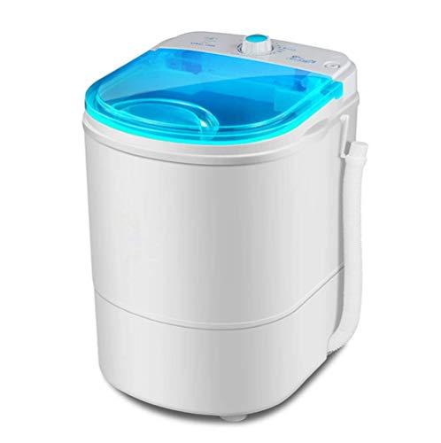 Kücheks Mini Lavadora portátil, Lavadora Ligera y pequeña y Secadora rotativa, Ahorro de energía y esterilización con luz Azul, Capacidad de 3 kg, 1,5 kgCapacidad de deshidratación