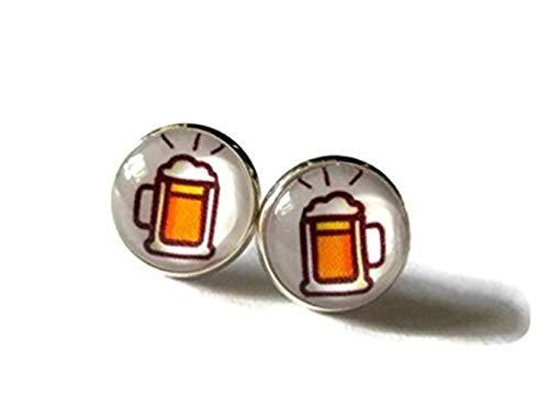 heng yuan Tanneng, lustige Bier-Ohrringe, Bier-Schmuck, Bierliebhaber, Biergeschenk, lustiges Geschenk, lustige Ohrringe