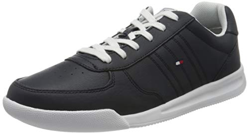 Tommy Hilfiger Herren Lightweight Leather Sneaker, Blau (Desert Sky Dw5), 44 EU
