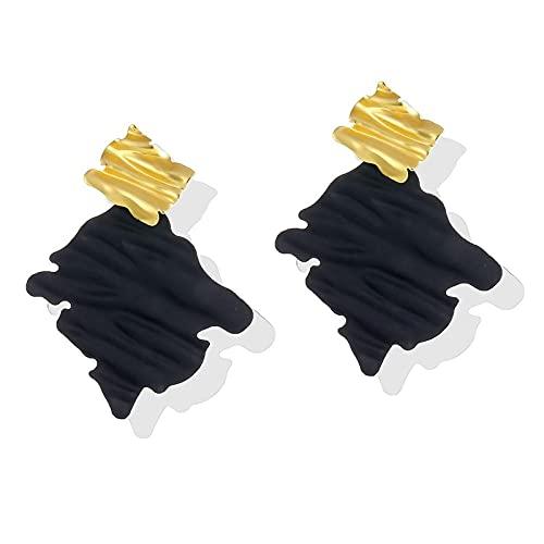 FEARRIN Pendientes para Mujer Pendientes Colgantes de Oro Vintage exagerados para Mujer Pendientes Colgantes de Metal geométrico con rombo Irregular Joyas LNI1312-3