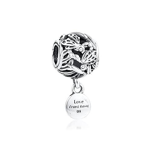 Auténtico Pandora 925 Colgante De Plata Esterlina Diy Libélula Amor Encantos Pulsera De Ajuste Original Para Hacer Joyas Regalo De Mujer