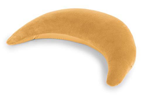 Der THERALINE Plüschmond | gefüllt mit sandfeinen Mikroperlen | Farbe: Bernstein