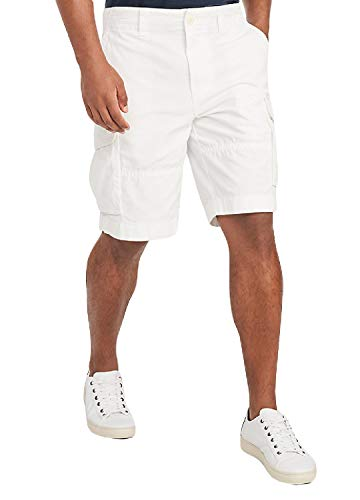Tommy Hilfiger Men's 6 Pocket Cargo Shorts, Bright White, 36