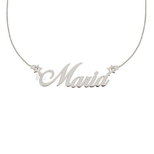 Collana con nome in argento 925% Tutti i nomi realizzabili personalizza la tua collana