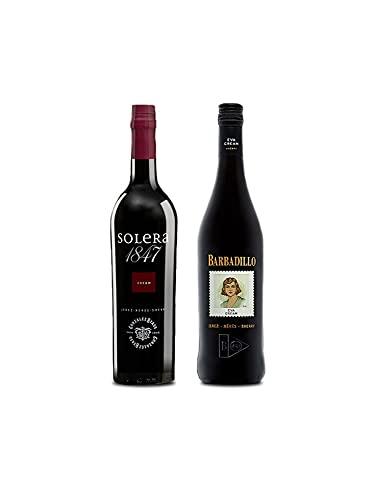 Vino cream Solera 1847 de 75 cl y Vino Eva Cream de 75 cl - Mezclanza Exclusiva